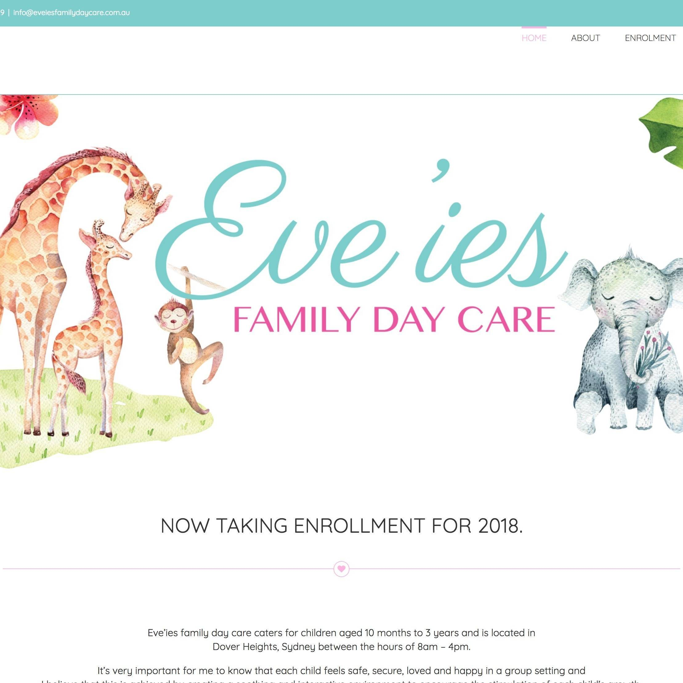 Eve'ies Family Day Care Site By The Creative Solutionist