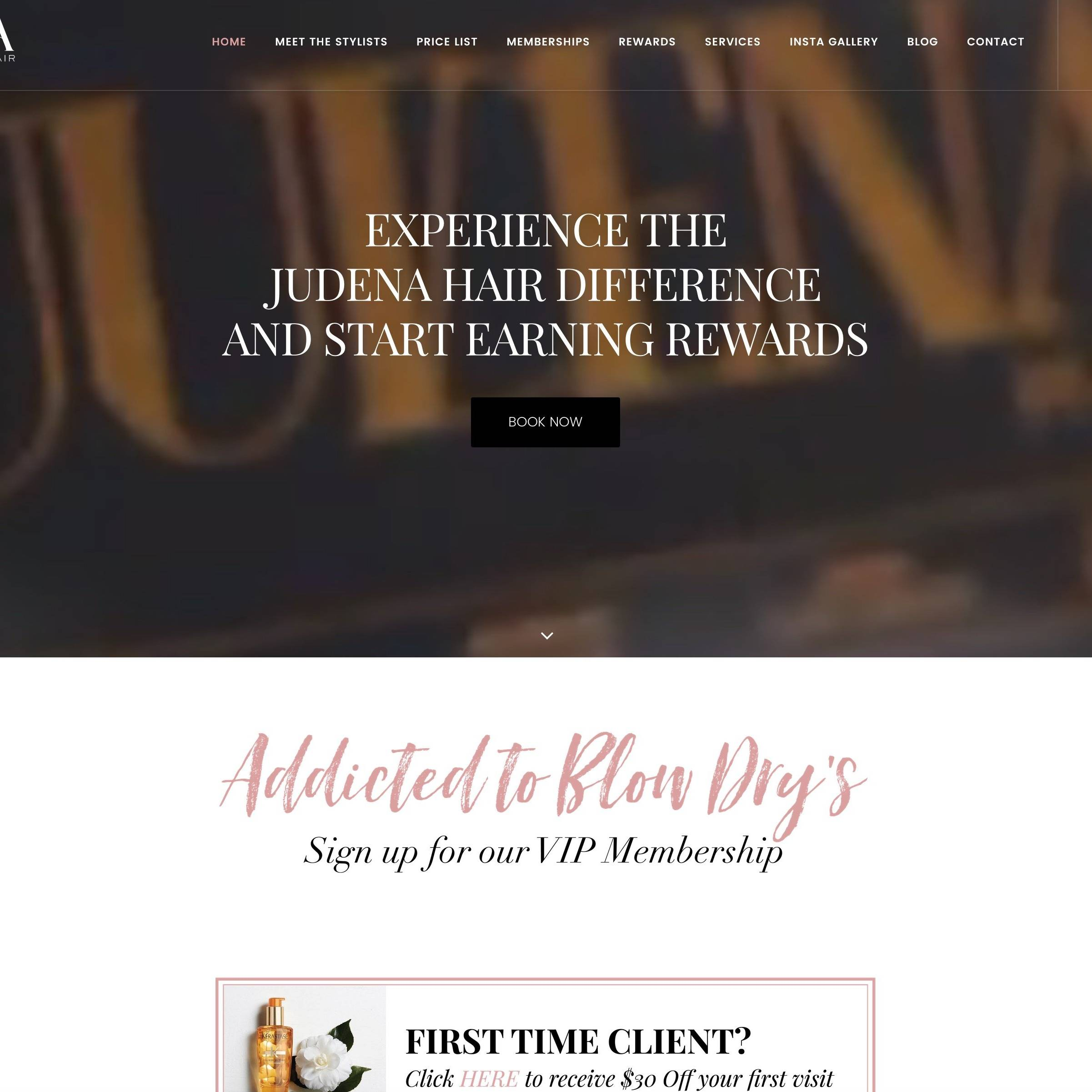 Judena Hair Site By The Creative Solutionist