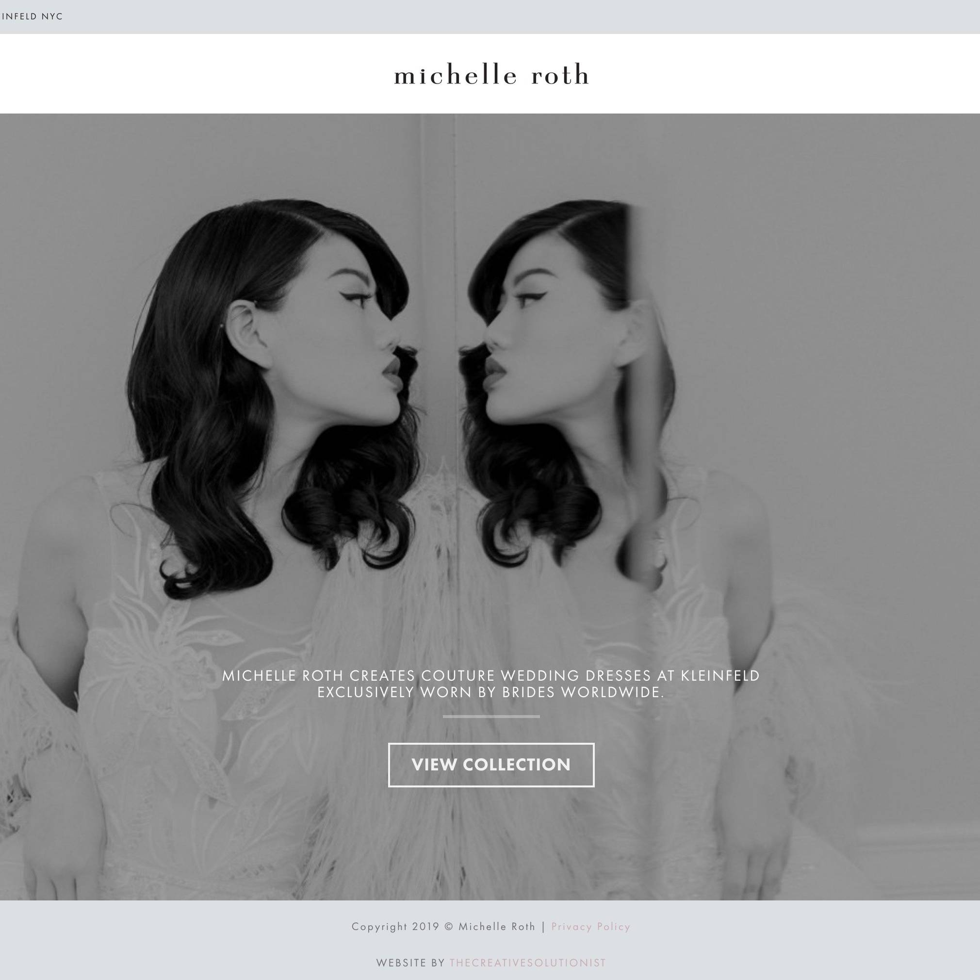Michelle Roth Bridal Site By The Creative Solutionist