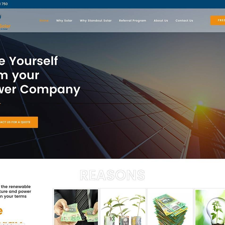 Standout Solar Site by The Creative Solutionist