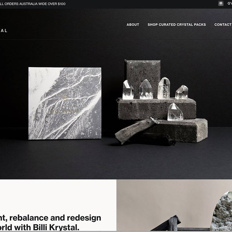 BILLI KRYSTAL Site by The Creative Solutionist