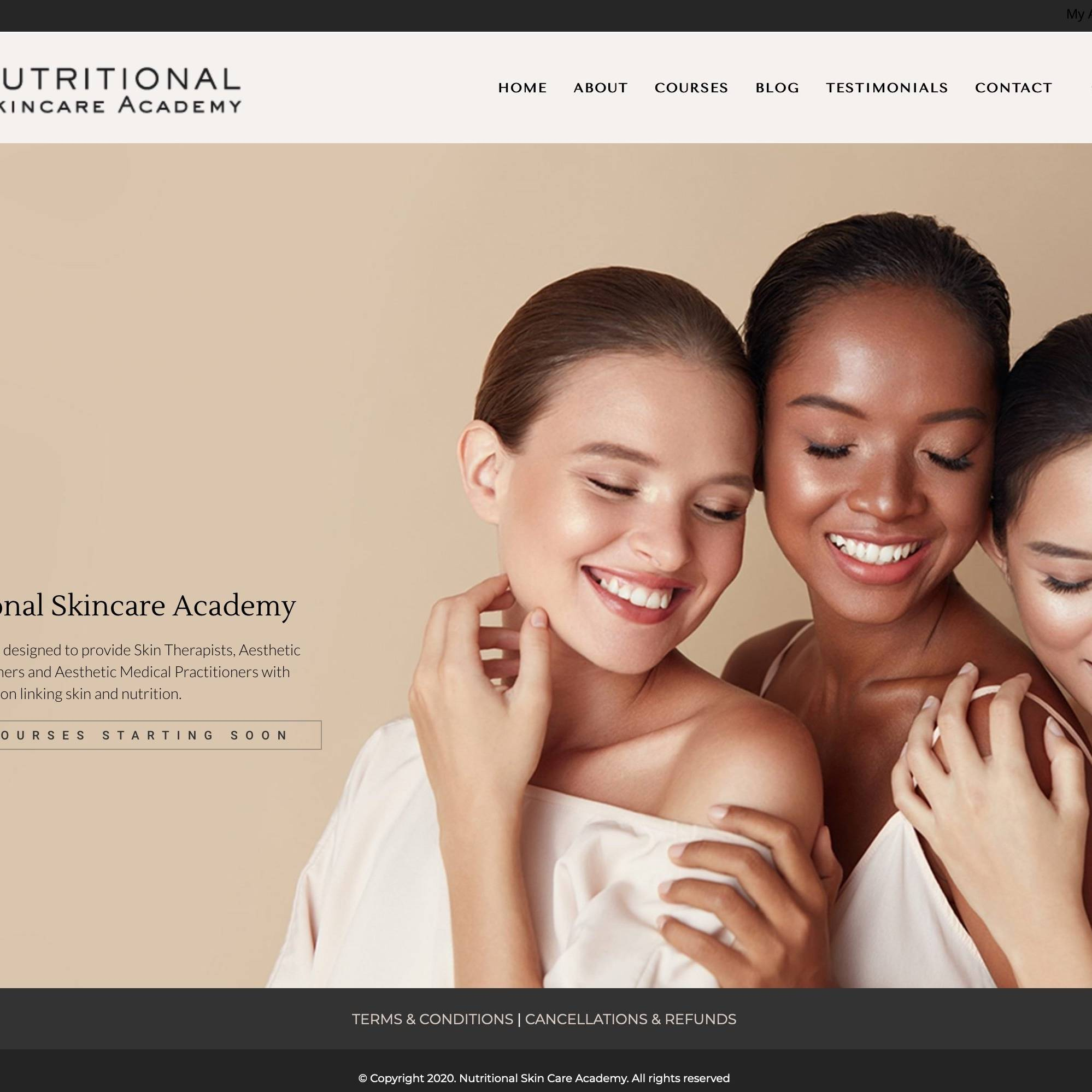 Nutritional Skincare Academy Site by The Creative Solutionist