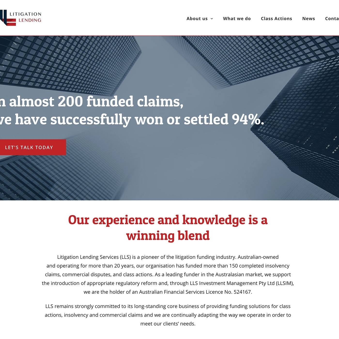LITIGATION LENDING Site by The Creative Solutionist